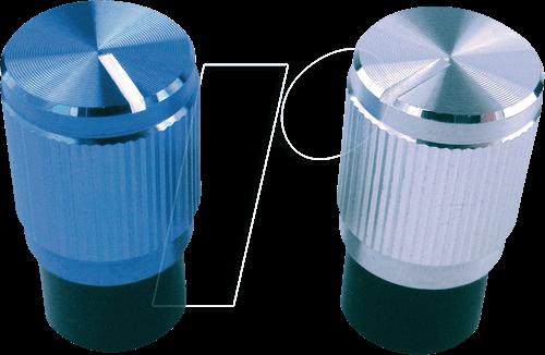CLIFF FC7257 - Aluminium-Drehknopf ,Ø 10,7 mm, 6 mm