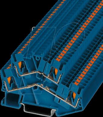 PTTBS 2,5 BU - Doppelstockklemme, PTTBS 2,5, blau