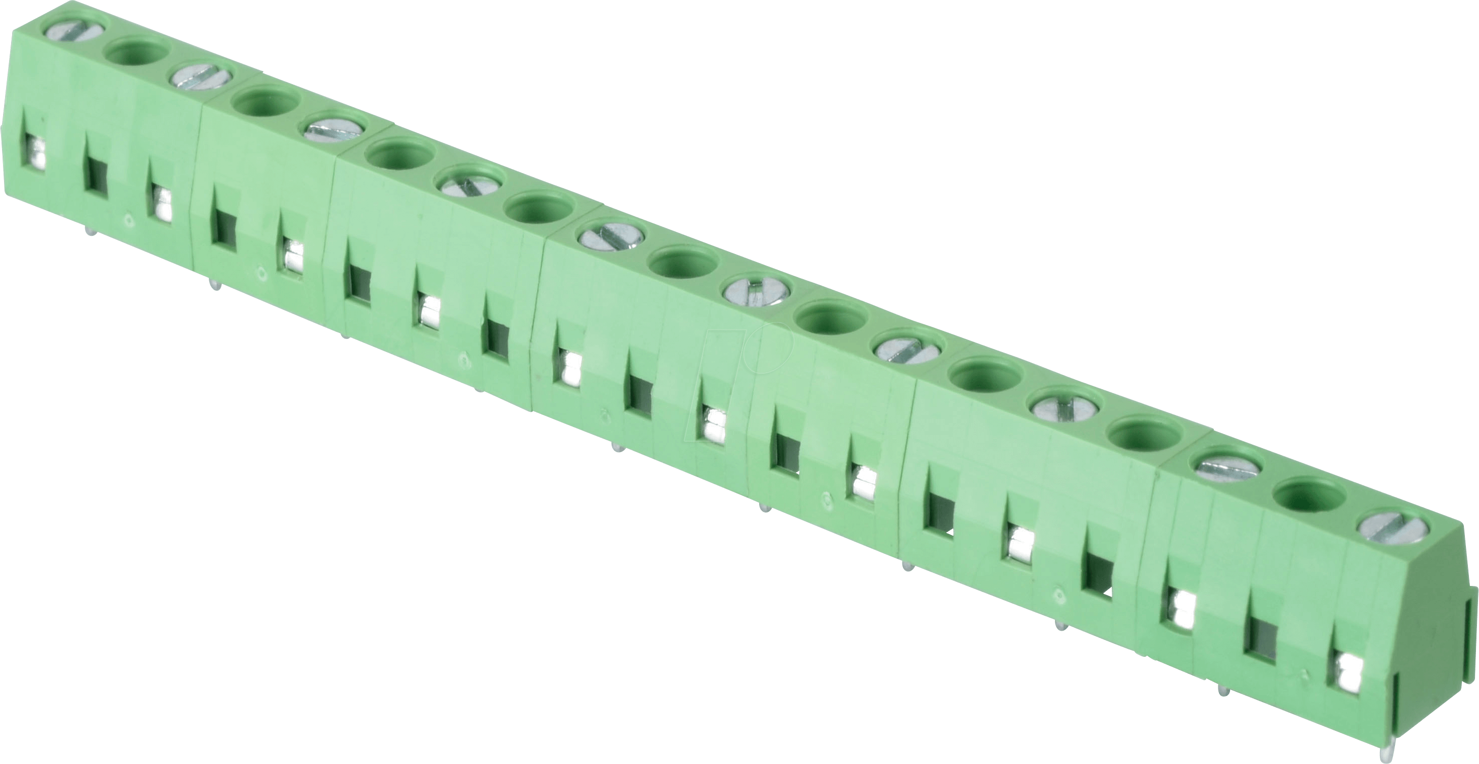 RND 205-00306 - Solderable screw terminal - 10-pole, contact spacing 10 mm,  90 °