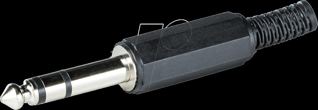 RND 205-00603 - Klinkenstecker, 6,3 mm, Stereo, 3-pol