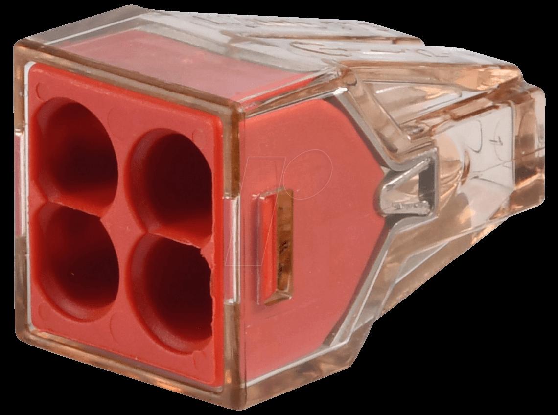 WAGO 773-604 - Verbindungsdosenklemmen, 4-Leiter-Klemme