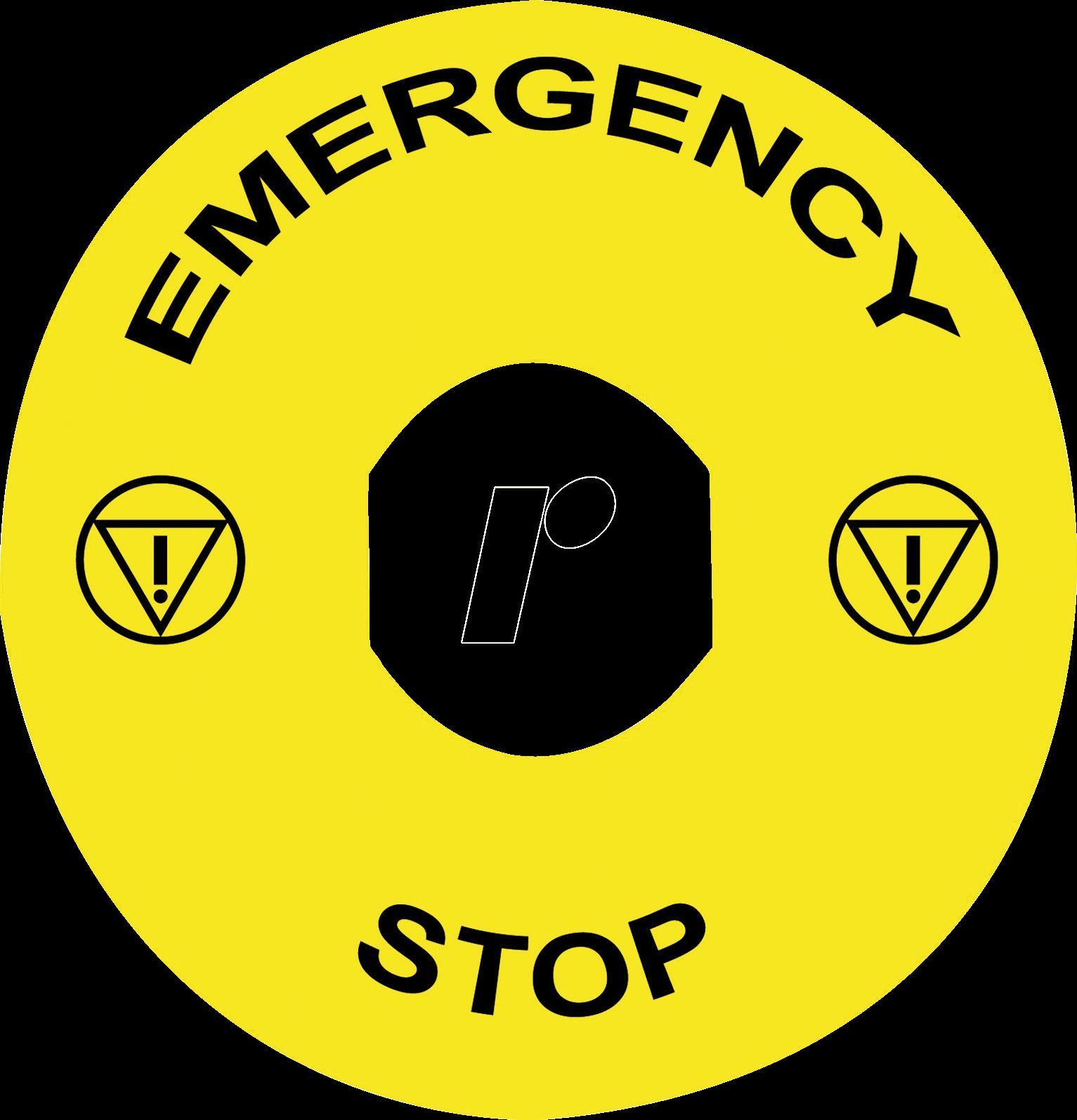 Zby9330t Schild Fr Xb4 Xb5 Emergency Stop At Reichelt Elektronik