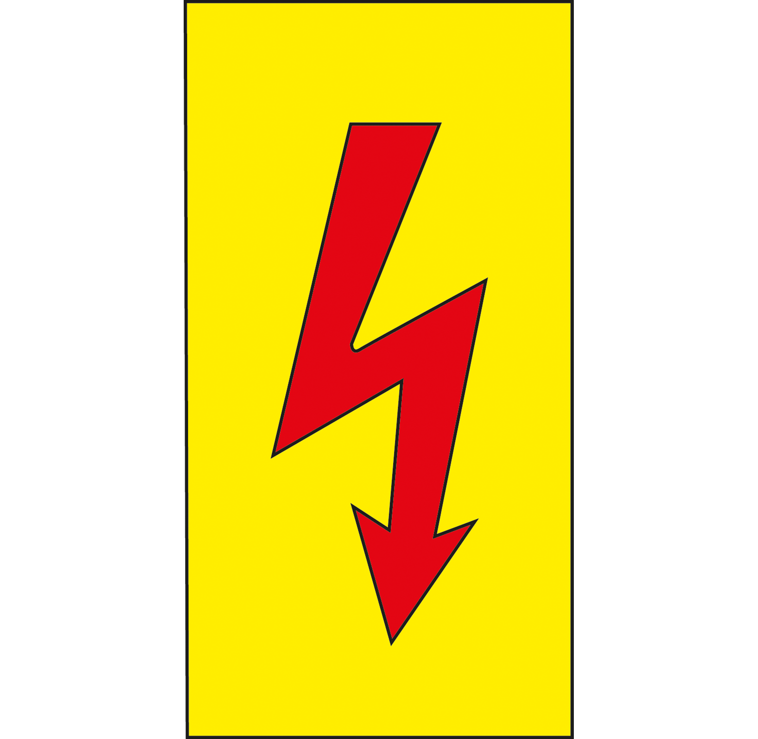 W 74401: Warning sign: red lightning flash at reichelt elektronik