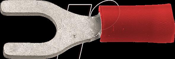 RND 465-00039 - Gabelschuh-Klemme - rot - 100 Stk.