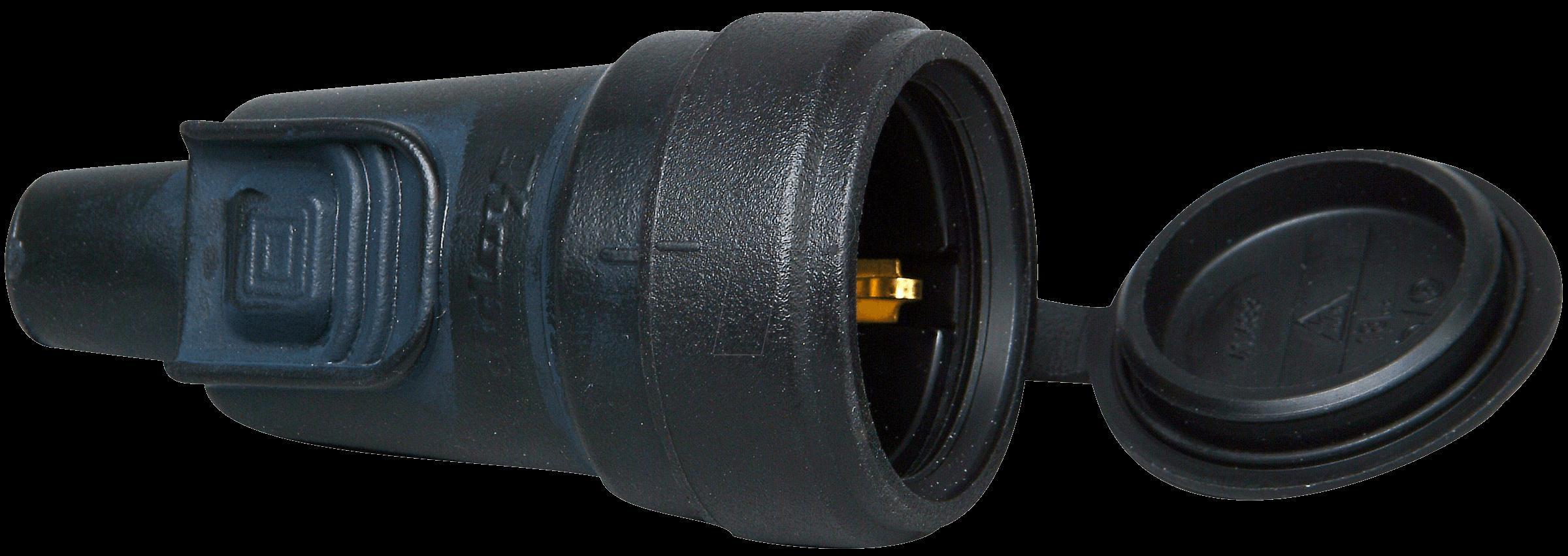SST 3VG VR KU - Schutzkontaktkupplung Typ F - CEE 7/3, IP 44, schwarz