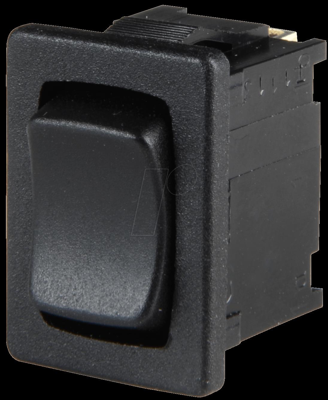 WIPPE 1808.6302: Wippschalter, 1x UM, schwarz bei reichelt elektronik