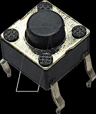 RND 210-00193 - Printtaster, THT, 2,45 N, 6 x 6 x 5 mm