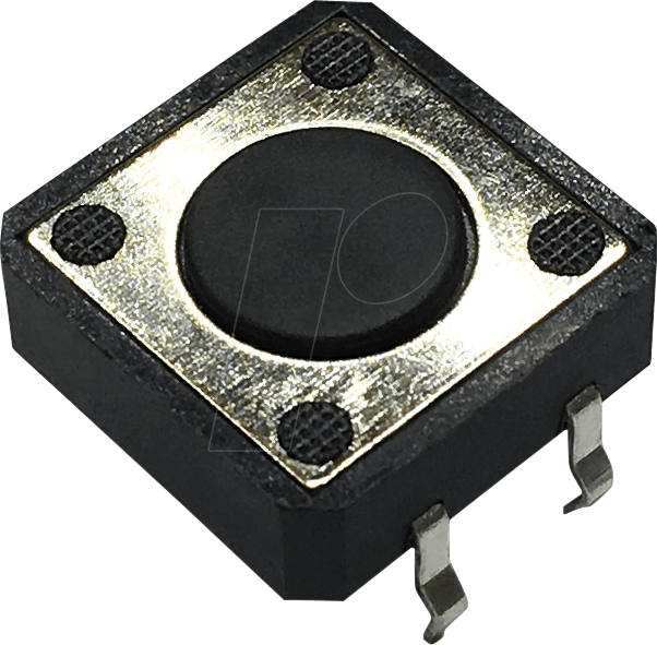 RND 210-00198 - Printtaster, THT, 2,45 N, 12 x 12 x 4,3 mm