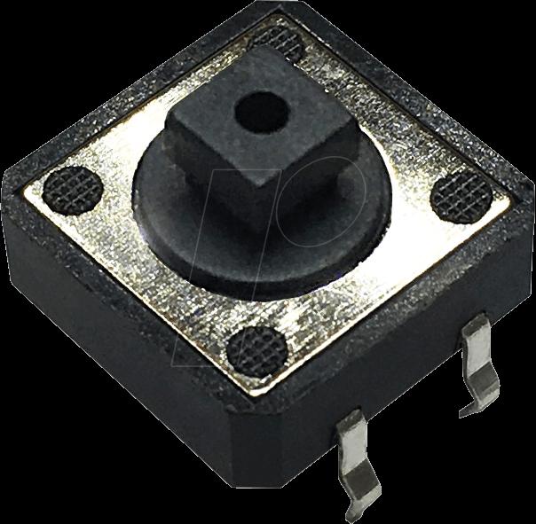 RND 210-00200 - Printtaster, THT, 2,45 N, 12 x 12 x 7,3 mm