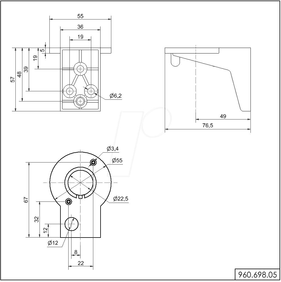 960.698.05 04 werma 960 698 05 wall mounting bracket at reichelt elektronik werma signaltechnik wiring diagram at edmiracle.co