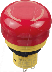 ID AB6E3BV02PTRM - Not-Aus-Schalter X6, 30 mm, 2 NC