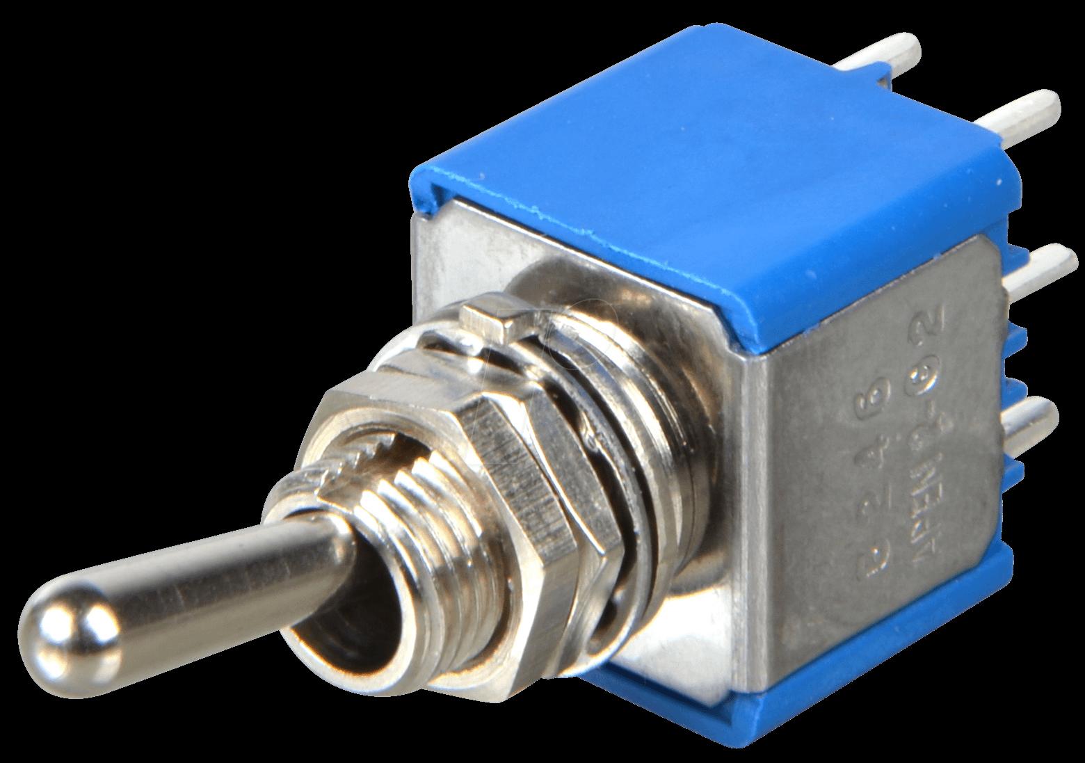 AS 500FPC: Kippschalter 0,4A-20VAC 2x Ein-Ein, Printanschluss bei ...