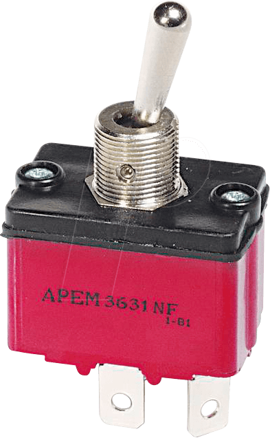 HS 3647 NF2 - Toggle switch 250 V AC, 6 A, 2 x (on)/off/(on)