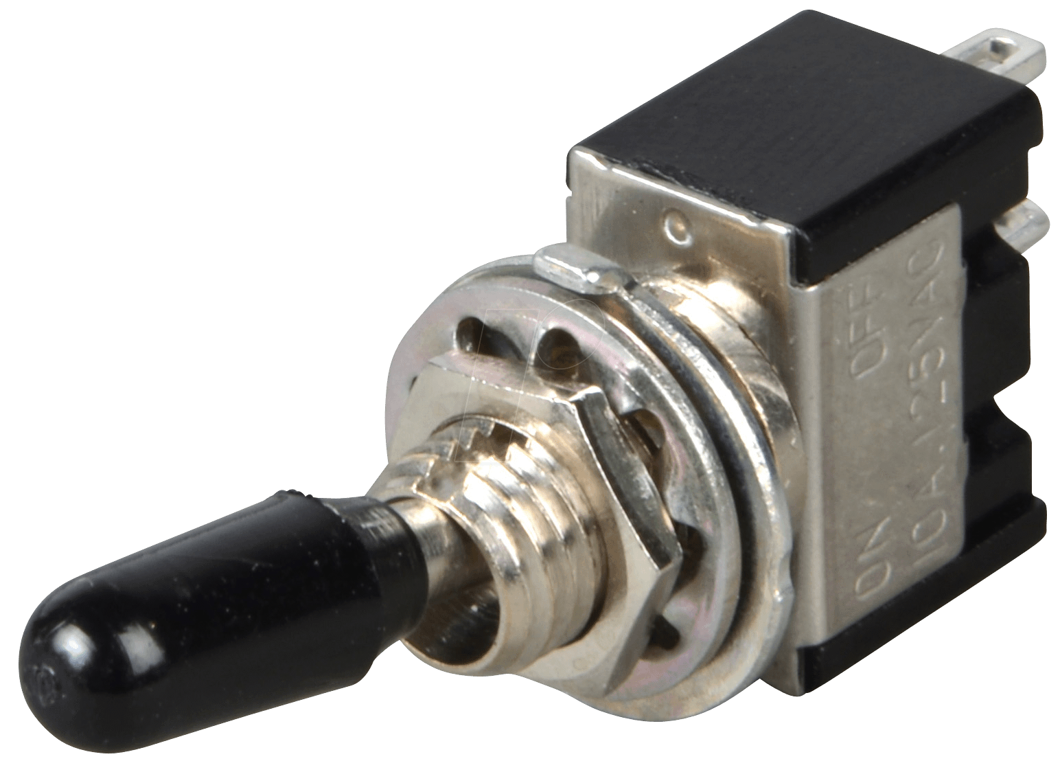 MS 165: Toggle switch, 1-pin, 10 A - 125 V AC, on-off at reichelt elektronik