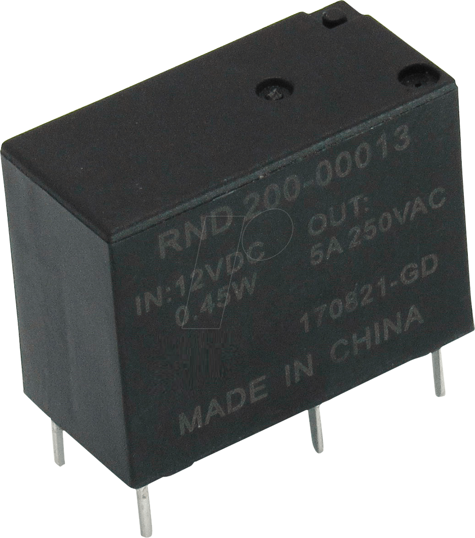 Rnd 200 00013 Power Relay 1 Co 12 V Dc 5 A At Reichelt Elektronik Electronic Components