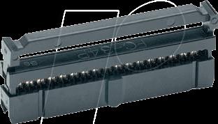 RND 205-00819 - Federleiste, Buchse, 14-pol, vergoldet, gerade