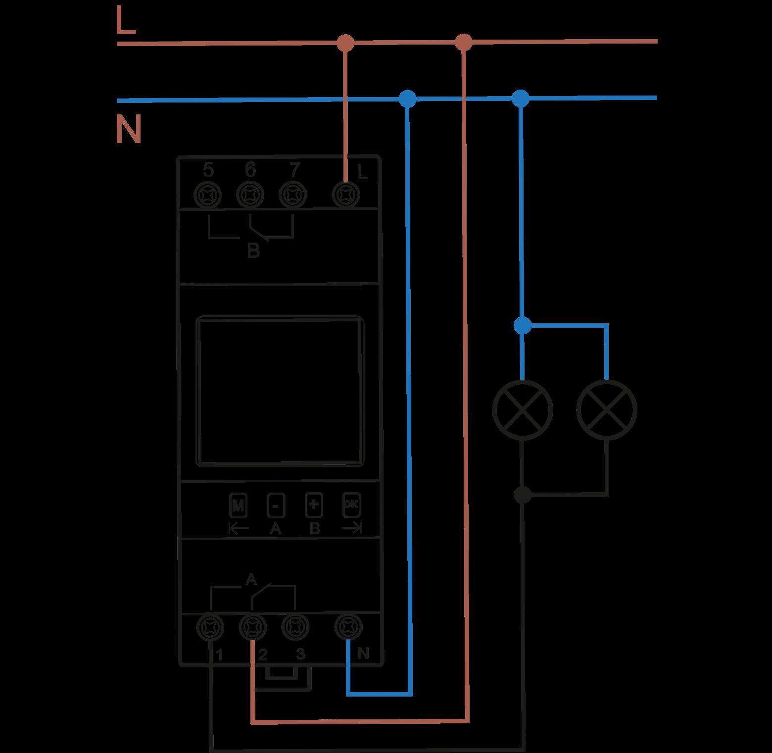 Схема подключения модульного контактора абб