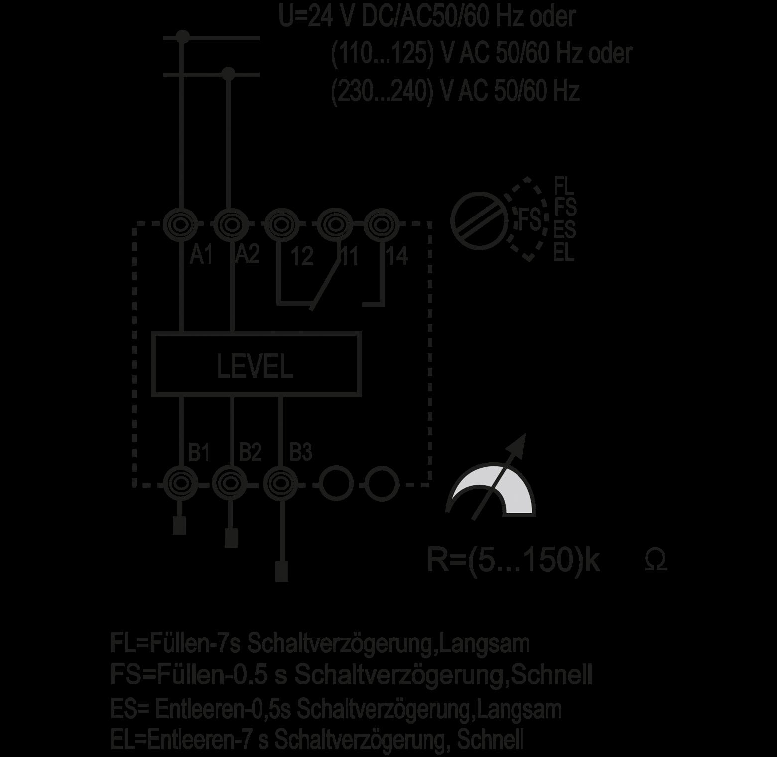 Fin 72018 24v Level Monitoring Relay 24 Vac At Reichelt Elektronik Volt Ac Wiring Diagram Finder 720180240000