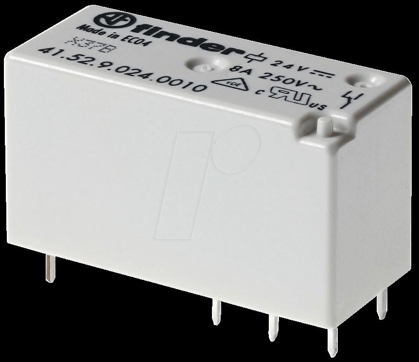 FIN 41.52.6S 12V - Printrelais - bistabil, 2 Wechsler, 12 V DC