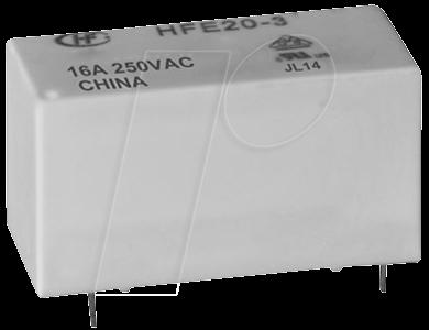 HFE20-1-005-1HT - Inrushrelais, 5V, 1 Schließer, 20A, bistabil