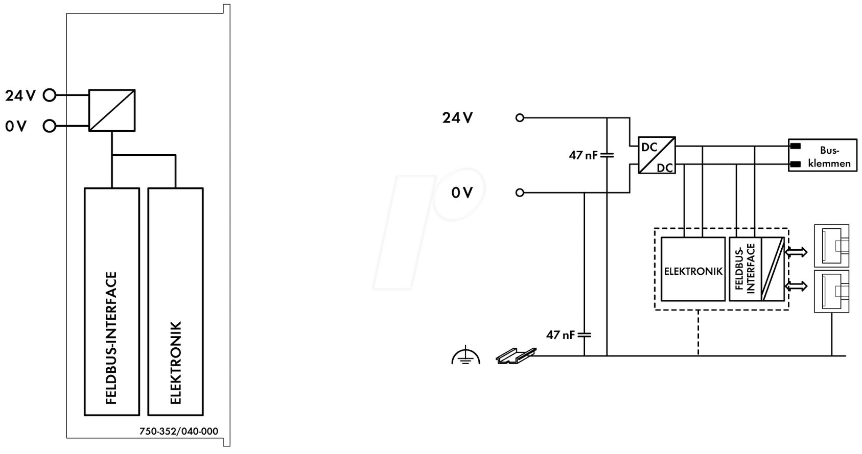 WAGO 750-352-40 - Fieldbus couplers ETHERNET, XTR