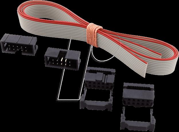 SET AWG28-10G: AWG 28-Set,1m Kabel+Stecker,10-pol,grau bei reichelt ...