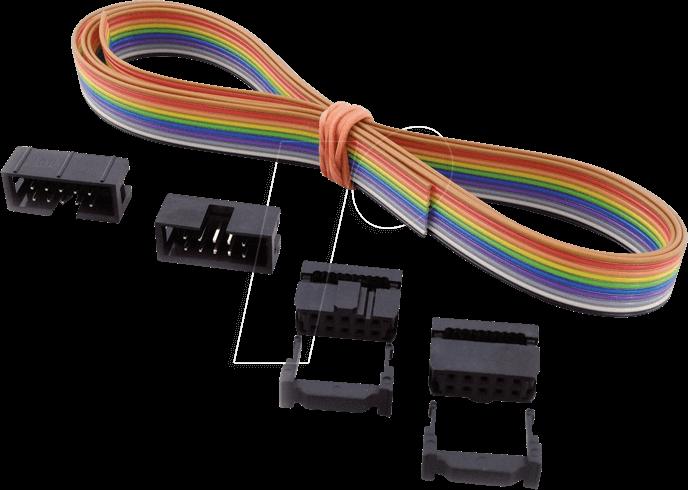 SET AWG28-14B: AWG 28-Set,1m Kabel+Stecker,14-pol, bei reichelt ...
