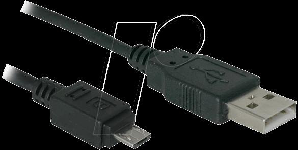 AK 676-AB: USB 2.0 Kabel, A Stecker auf Micro B Stecker, 1,0 m bei ...