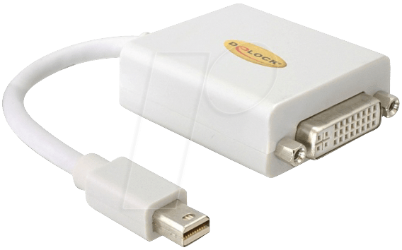 DELOCK 65129 - DisplayPort Adapter, mini DP auf DVI 24+5 pin Buchse