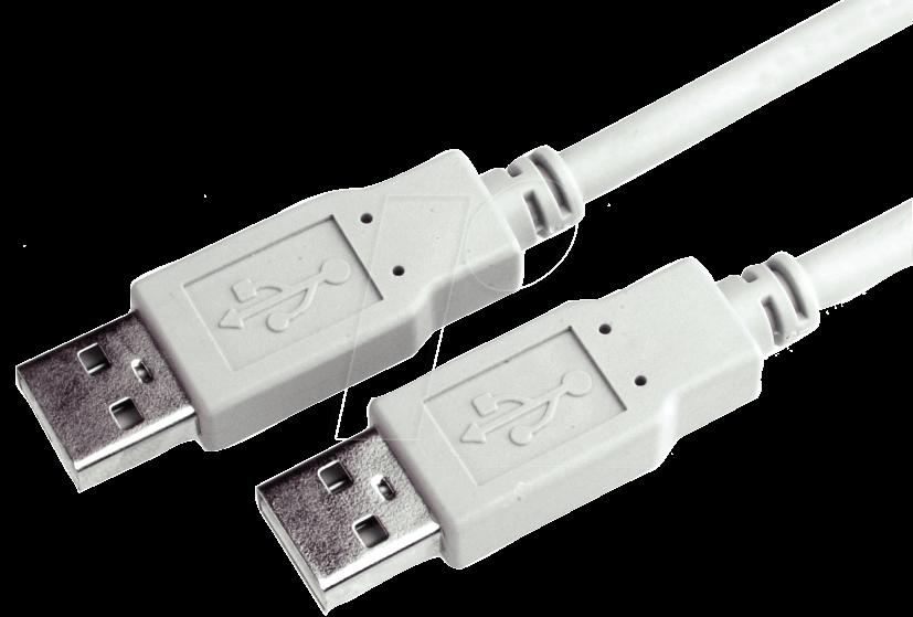 ak 670 2 1 0 usb 2 0 kabel a stecker auf a stecker 1. Black Bedroom Furniture Sets. Home Design Ideas