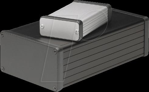 1455C801 - Profilgehäuse, 1455 C, 80 x 54 x 23 mm, Metall matt