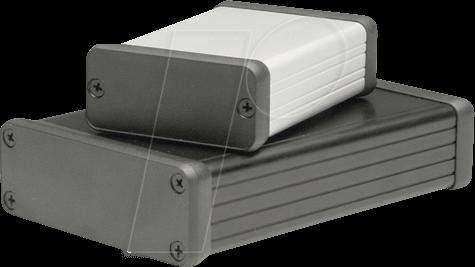 1455C802 - Profilgehäuse, 1455 C, 80 x 54 x 23 mm, silber