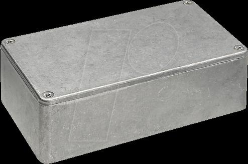 1590K430 - Zinkgehäuse, 1590 K, 111,6 x 61,6 x 31,3 mm, Metall matt