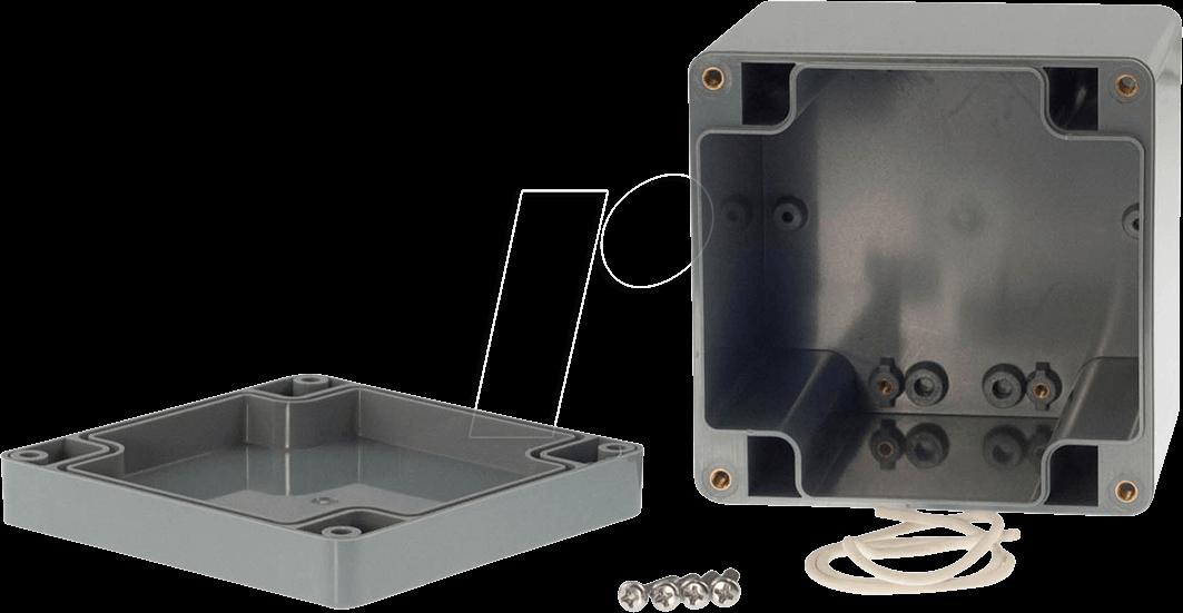 RND 455-00145 - Kunststoffgehäuse, 100 x 100 x 90 mm, IP65