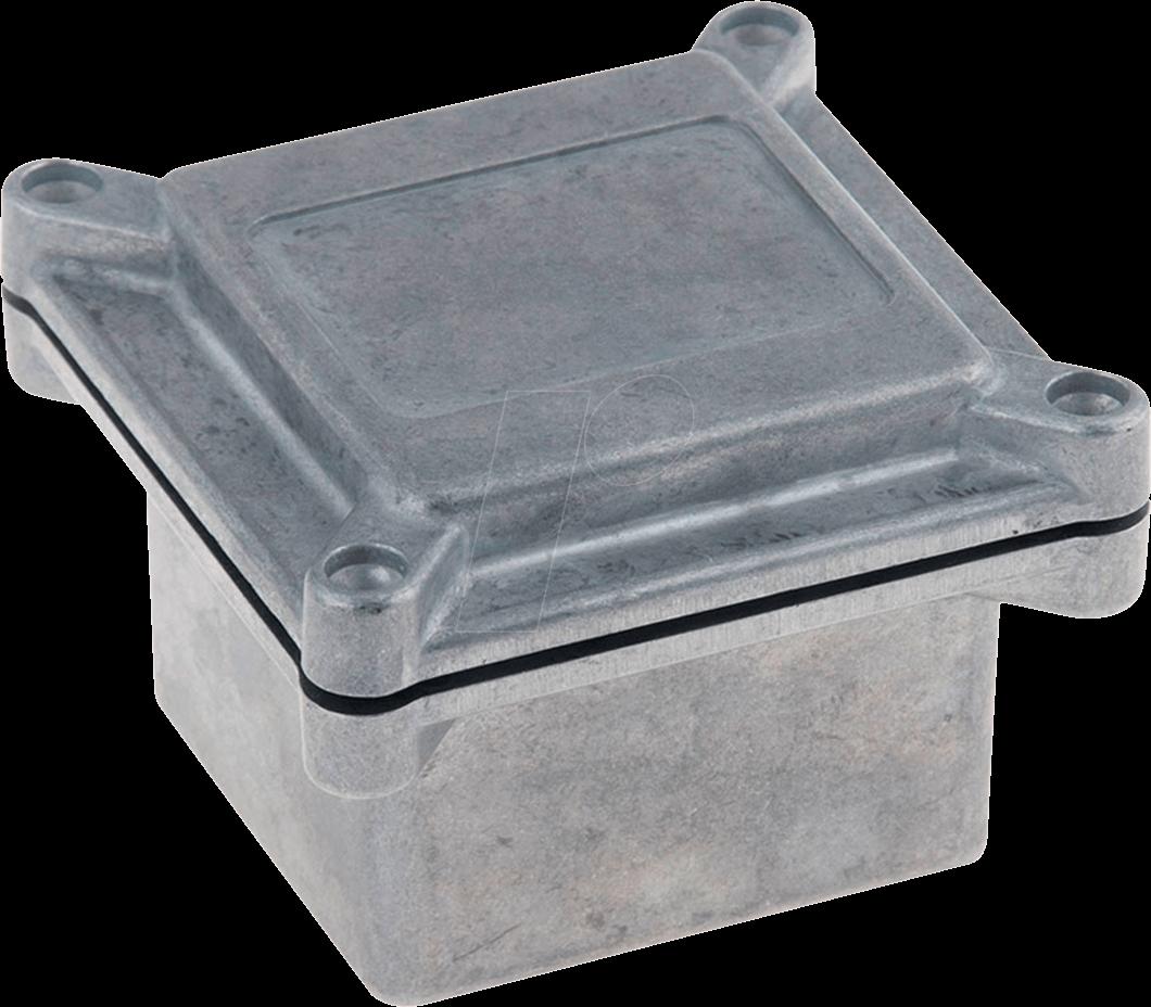 RND 455-00642 - aluminum casing, 67 x 72 x 67 mm, aluminum