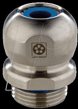 LAPP 53806740 - Kabelverschraubung, M 16 x 1,5, Ø 6 - 10 mm, silber, IP69K
