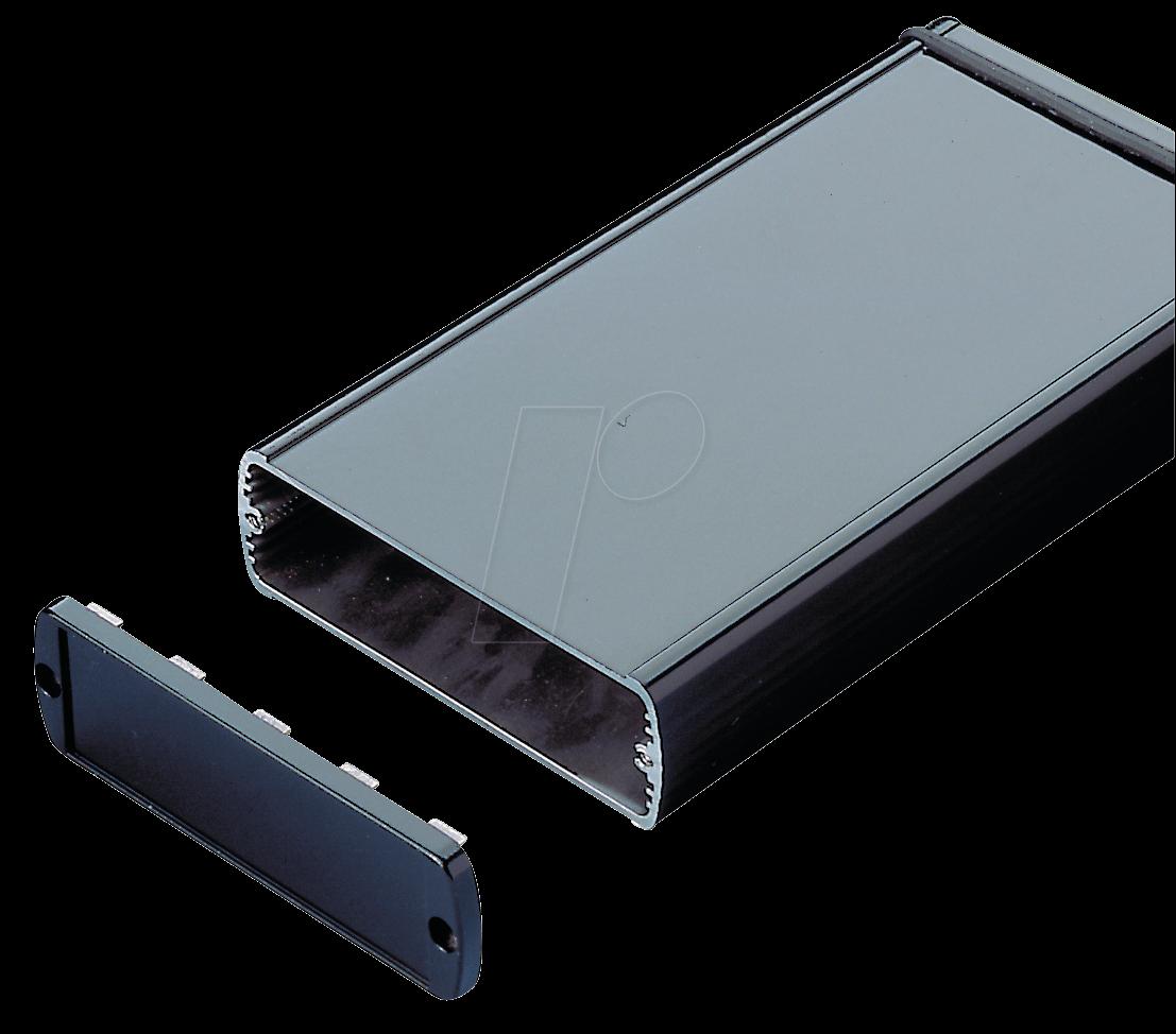 ABPH 1040-200 - Alu-Profilgehäuse, ohne Deckel, 200 x 108 x 42 mm, IP65