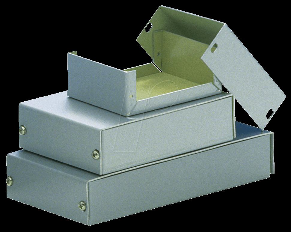 TEKO A1 - Alugehäuse, 38 x 72 x 28 mm, silber