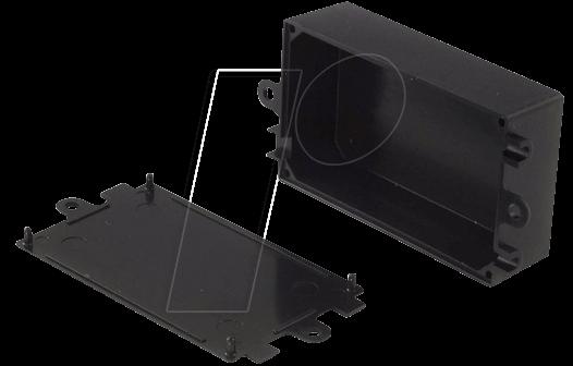RND 455-00083 - Kunststoffgehäuse, 72 x 44 x 27 mm, mit Flansch