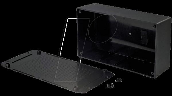 RND 455-00093 - Kunststoffgehäuse, 225 x 113 x 63 mm, mit Flansch