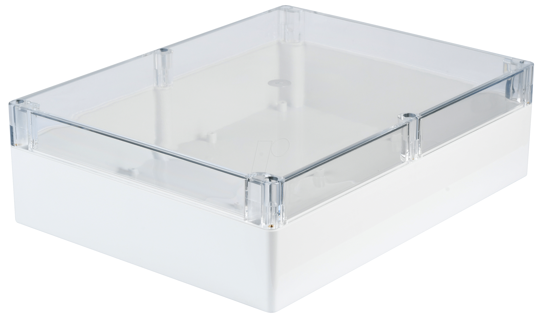 rnd 455 00203 polycarbonate box w clear lid at reichelt elektronik. Black Bedroom Furniture Sets. Home Design Ideas