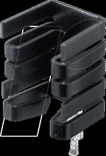576802B04100G - Kühlkörper, 19,1 mm, Alu, 27,3 K/W, TO-220/TO-262