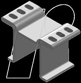 V FK 250-10 LFP - Kupferkühlkörper für LF PAK, 15x8x10mm