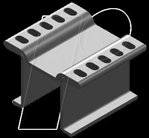V FK 251-10 LFP - Kupferkühlkörper für LF PAK, 15x13x10mm