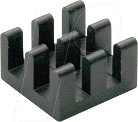 ICK BGA 10 X 10 - Kühlkörper, 10 mm, Alu, 30 K/W, BGA