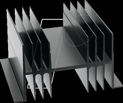 SK 02 100 SA-CB - Kühlkörper, 100 mm, Alu, 1,1 K/W, TO-3/TO-66/SOT-32