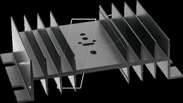 SK 03 75 SA-CB - Kühlkörper, 75 mm, Alu, 2,2 K/W, TO-3/TO-66/SOT-32