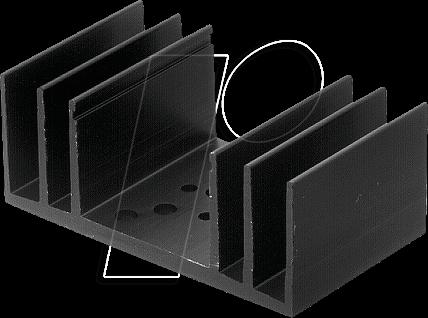 SK 18/37.5 - Kühlkörper, 37,5 mm, Alu, 3,5 K/W, SOT-32/SOT-9/TO-3/TO-66