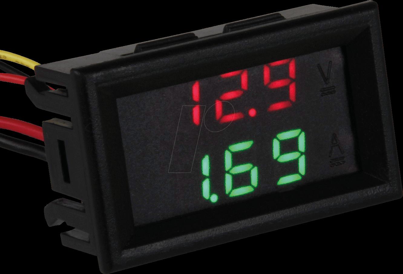 JOY-IT VAM10010 - LCD, Spannungs- und Strommessgerät, 3,5 V bis 30 V (DC)