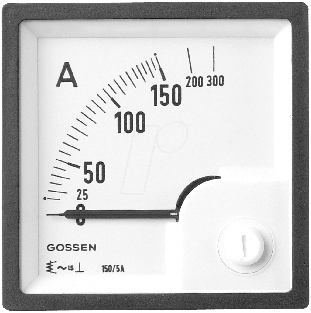 EQB 72-4A - Dreheisen-Messwerk 0-4 A/8 A, 72x72 mm